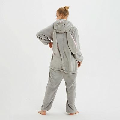 Adorable Adult Pyjamas for Women Long Ears MashiMaro Onesie, Grey_5