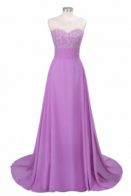 Cheap Chic Jewel Chiffon Tulle Party Dress with Sequins in Stock_3