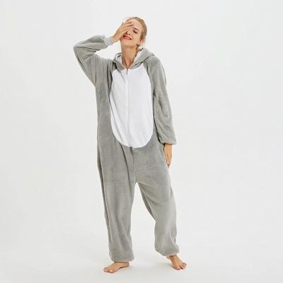 Adorable Adult Pyjamas for Women Long Ears MashiMaro Onesie, Grey_15
