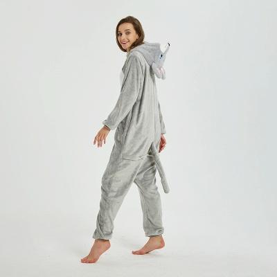 Cute Animal Pyjamas for Women Mouse Onesies, Grey_11