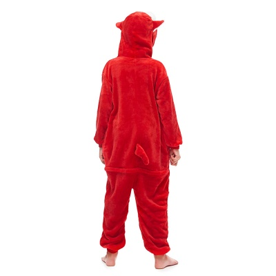 Cute Animal Sleepwear Bear Onesie, Red_2