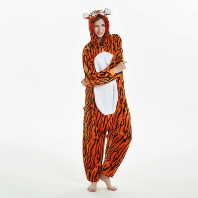 Lovely Adult Tiger Onesies Pajamas for Women_13
