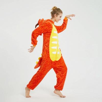 Adorable Adult Pyjamas for Women Triceratops Onesie, Orange_5