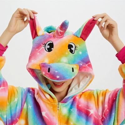 Cute Pyjamas for Women Unicorn Onesies, Rainbow_14