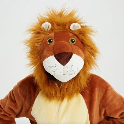 Cute Animal Pyjamas for Women Lion Onesies, Brown_18