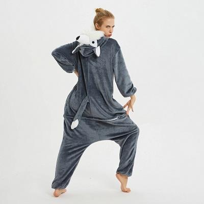 Lovely Pajamas Sleepwear for Women Huskie Onesie, Dark Grey_5