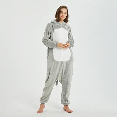 Cute Animal Pyjamas for Women Mouse Onesies, Grey_15