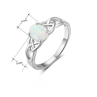 Chic Sterling Silver Ring Jewelry_4