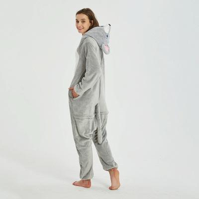 Cute Animal Pyjamas for Women Mouse Onesies, Grey_21