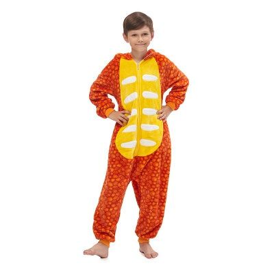 Lovely Animal Sleepwear Unicorn Onesies, Orange_5