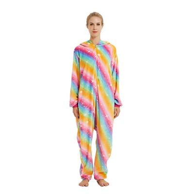 Cute Pyjamas for Women Unicorn Onesies, Rainbow_19