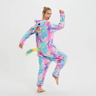 Cute Animal Pyjamas for Women Rainbow Hoodie Onesies_3