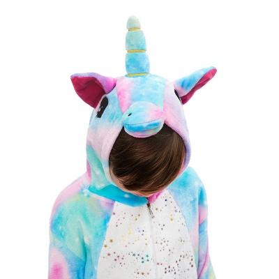 Cute Animal Sleepwear Unicorn Onesie, Rainbow_6