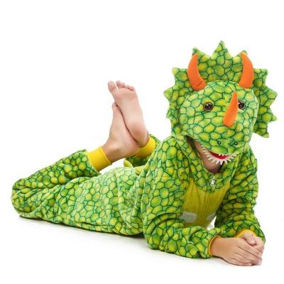 Lovely Animal Sleepwear Dinosaur Onesie, Green_6