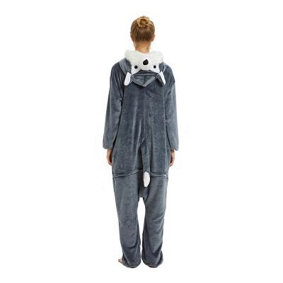 Lovely Pajamas Sleepwear for Women Huskie Onesie, Dark Grey_20