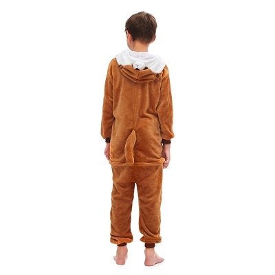 Lovely Pajamas Sleepwear for Boys Bear Onesies, Brown_3