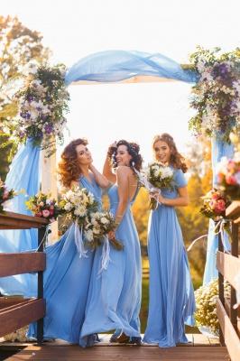 Convertible Blue Long Bridesmaid Dresses | Sexy Maid of Honor Dresses_6