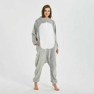 Cute Animal Pyjamas for Women Mouse Onesies, Grey_3