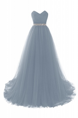 Cheap modest sweetheart sleeveless beading a-line prom dress in Stock_8