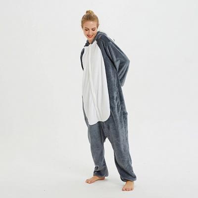 Lovely Pajamas Sleepwear for Women Huskie Onesie, Dark Grey_17