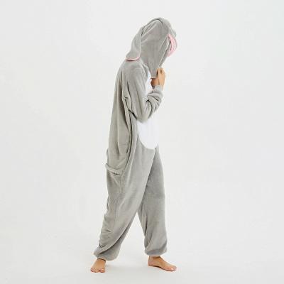 Adorable Adult Pyjamas for Women Long Ears MashiMaro Onesie, Grey_18