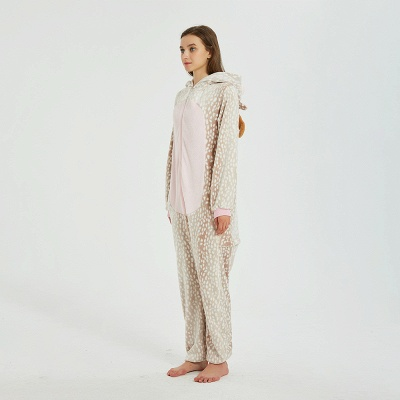 Adorable Adult Pyjamas for Women Deer Onesies_6