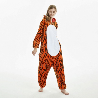 Lovely Adult Tiger Onesies Pajamas for Women_6