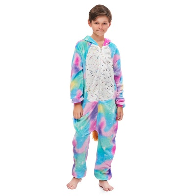Cute Animal Sleepwear Unicorn Onesie, Rainbow_2
