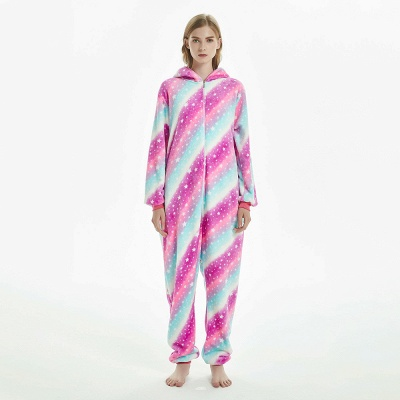 Downy Adult Coloful Onesies Pajamas for Women_11