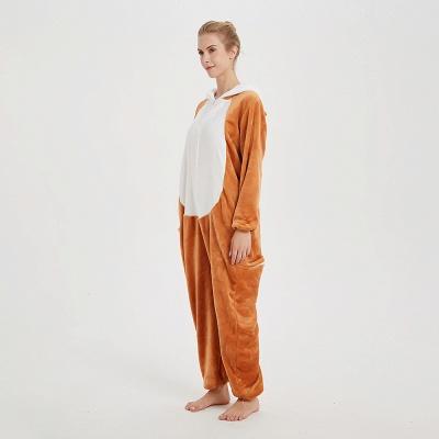Cute Sleepwear for Women Brown Hoodie Onesies_3
