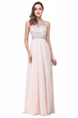 A-line Jewel Chiffon Prom Dress with Beading_2