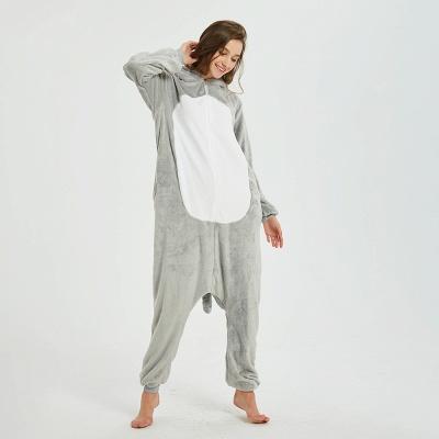 Cute Animal Pyjamas for Women Mouse Onesies, Grey_9