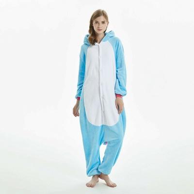 Downy Adult Sky Blue Unicorn Onesies Sleepwear for Girls_2