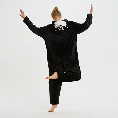 Cute Pyjamas for Women Huskie Onesies, Dark_5