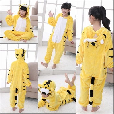 Cute Animal Pyjamas for Kids Tiger Onesies, Yellow_9