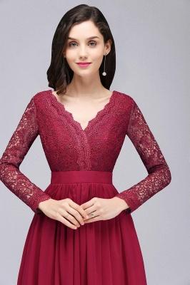 Elegant A-line Chiffon Lace Long Sleeves Evening Dress On Sale_7