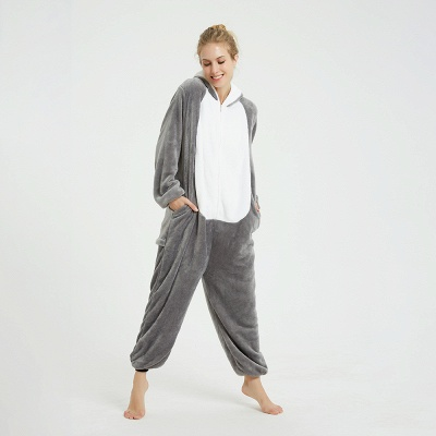 Adorable Adult Pyjamas for Women MashiMaro Onesie, Grey_4