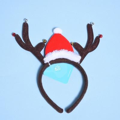 Christmas Decoration Santa Cap Wapiti Deer Headhand_1