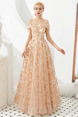 Gorgeous Off the Shoulder A-line Floor Length Lace Prom Dresses | Long Evening Dresses Cheap_3