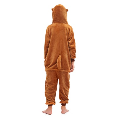 Lovely Pajamas Sleepwear for Boys Bear Onesies, Brown_4