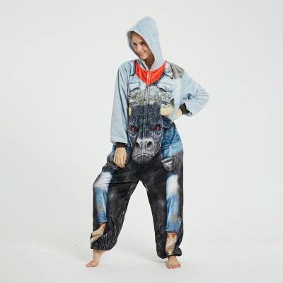 Cute Animal Pyjamas Hoodie Onesies for Women_13