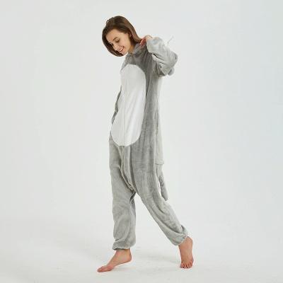 Cute Animal Pyjamas for Women Mouse Onesies, Grey_6