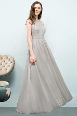 A-line Sleeveless Long Lace Top Chiffon Bridesmaid Dresses_1