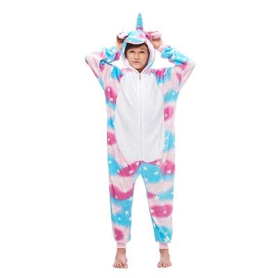 Lovely Pajamas Sleepwear for Kids Unicorn Hoodie Onesies_1