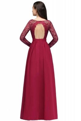 Elegant A-line Chiffon Lace Long Sleeves Evening Dress On Sale_3