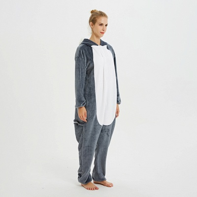 Lovely Pajamas Sleepwear for Women Huskie Onesie, Dark Grey_3