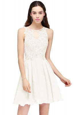 Cheap Burgundy A-line Homecoming Dress with Lace Appliques in Stock_1