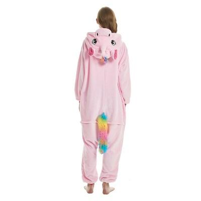 Cute Adult Pink Unicorn Onesies Sleepwear for Girls_20