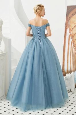Off the Shoulder Sweetheart Jade A-line Long Prom Dresses | Elegant Evening Dresses_25