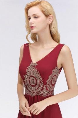 A-Line Chiffon Lace Ruffles Evening Dress On Sale_5